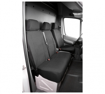 Ford Transit polyester tailor made car seat cover single seat and double bench front built from 2006 to present