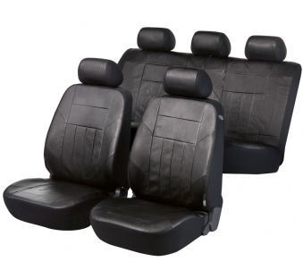 Car Seat Cover Soft Nappa black Artificial leather