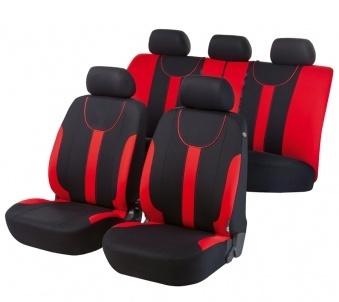 Autositzbezug Dorset schwarz/rot Premium