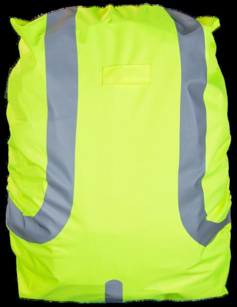 Reflektierende Rucksackhülle wasserbeständig gelb 45L