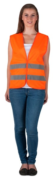 Sicherheitsweste Größe L für Erwachsene Orange EN 20471/2