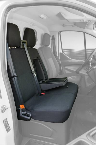 Passform Sitzbezüge für Ford Transit Doppelbank vorne aus Polyester ab Baujahr 05/2014 - heute