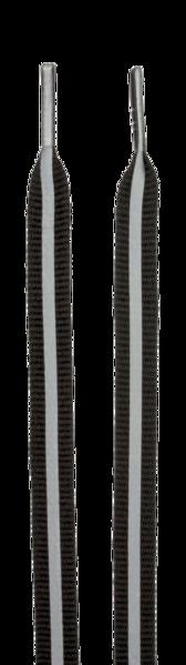 Reflektierende Schnürsenkel schwarz