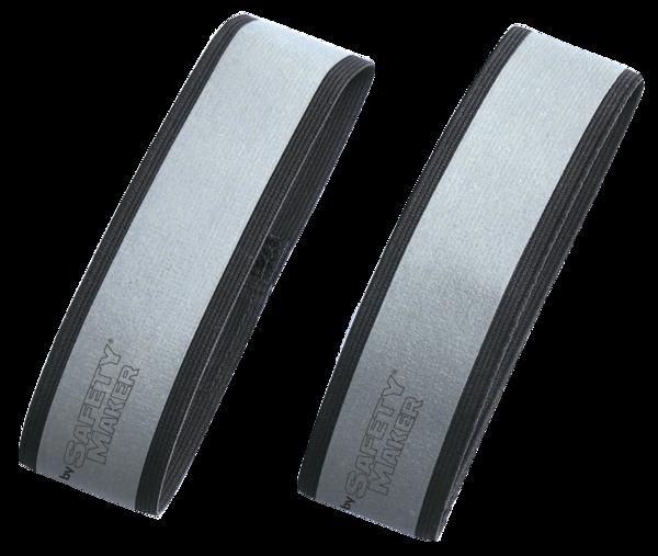 Reflektor Band in Silber / Schwarz - 1 Paar