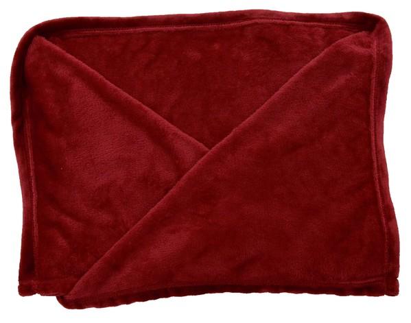 Fleecedecke port rot Kuscheldecke 150 x 200 cm