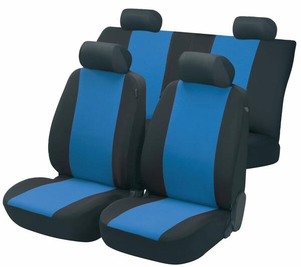 Autositzbezug Flash blau