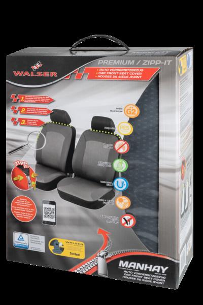 ZIPP IT Premium Manhay Auto Sitzbezüge für Vordersitze mit Reissverschluss System
