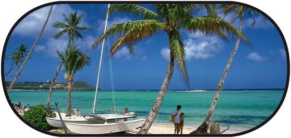 Sonnenschutz Heckscheibe selbsthaftend 100 x 50 cm - Motiv Strand