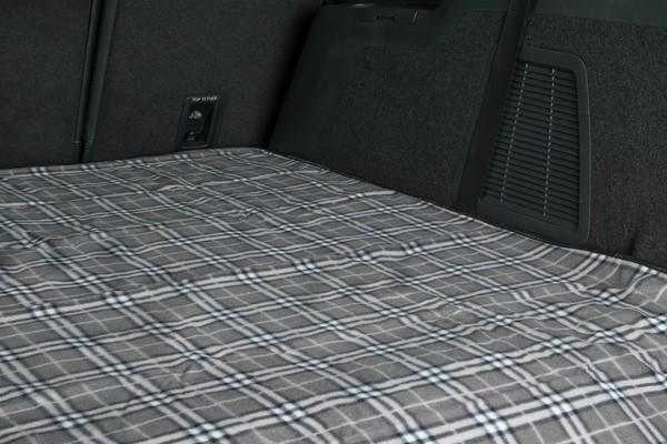 Reisedecke Picknickdecke Nessie grau karriert 150x130cm