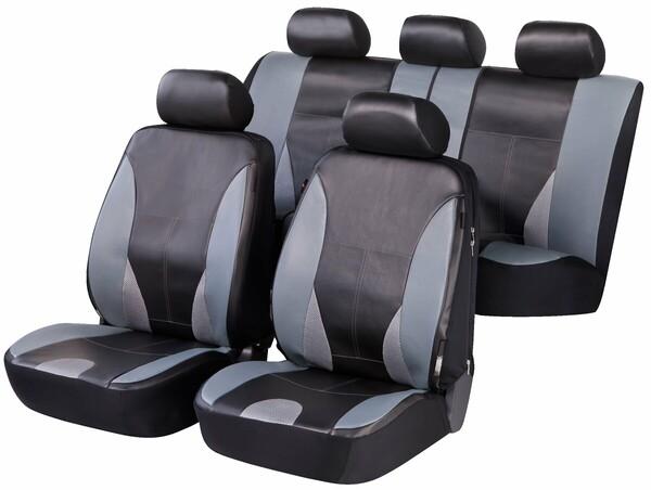 ZIPP IT Deluxe Sporting Auto Sitzbezüge aus Kunstleder mit Reissverschluss System