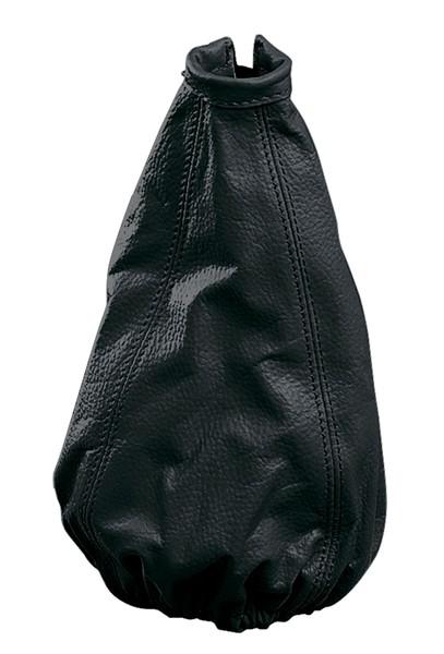Schaltmanschette aus Leder schwarz