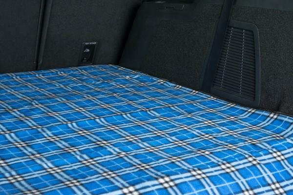 Reisedecke Picknickdecke Nessie blau karriert 150x130cm