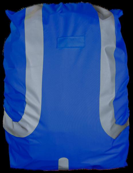 Reflektierende Rucksackhülle wasserbeständig blau 45L