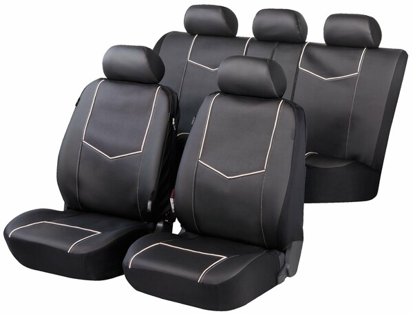 ZIPP IT Deluxe York Auto Sitzbezüge aus Kunstleder mit Reissverschluss System