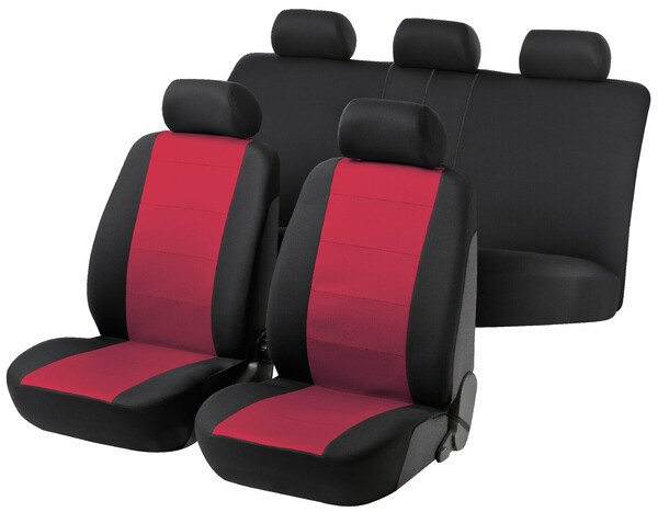 Autositzbezug Speed schwarz rot