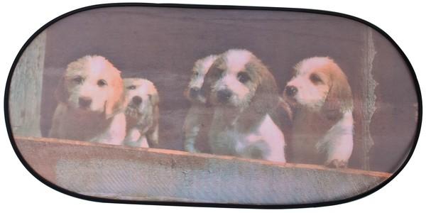 Sonnenschutz Heckscheibe selbsthaftend 100 x 50 cm Motiv mit Hunden