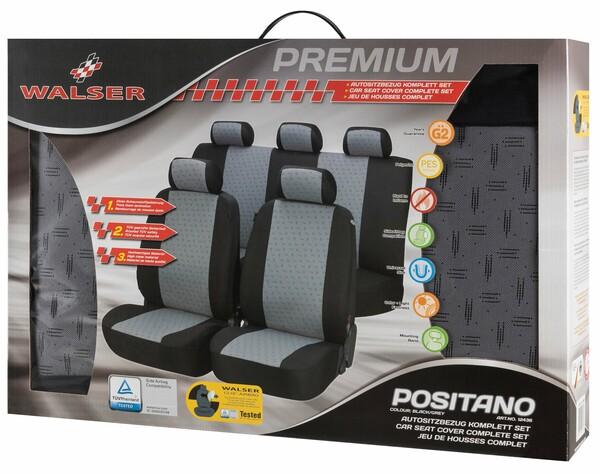 Sitzbezüge Positano schwarz grau Komplett Set