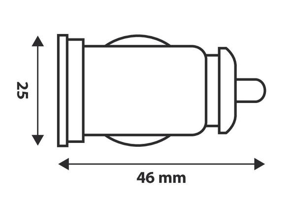 PKW Doppel USB Stecker 12 Volt / 24 Volt
