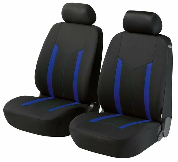 ZIPP-IT Basic Hastings blau Auto Sitzbezüge für Vordersitze mit Reissverschluss System