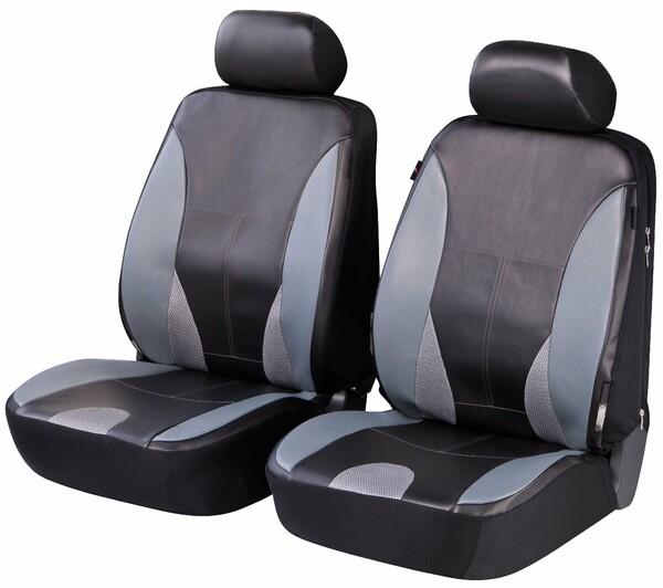 ZIPP IT Deluxe Sporting Auto Sitzbezüge aus Kunstleder für Vordersitze mit Reissverschluss System