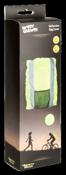 Reflektierende Rucksackhülle gelb 30L