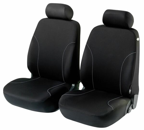 ZIPP-IT Basic Allessandro schwarz Auto Sitzbezüge für Vordersitze mit Reissverschluss System