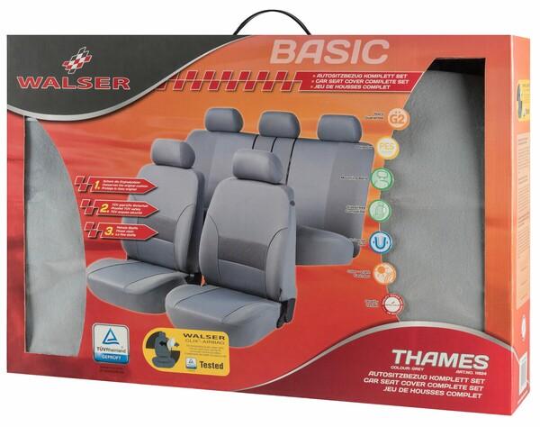 Autositzbezug Thames grau