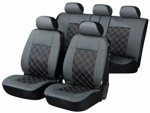 ZIPP IT Deluxe Auto Sitzbezüge aus Kunstleder Durham anthrazit mit Reissverschluss System