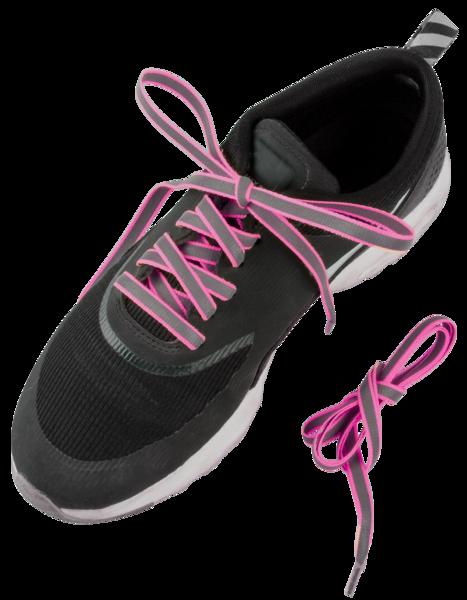 Reflektierende Schnürsenkel pink
