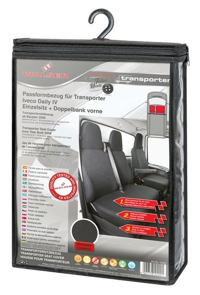 Sitzbezüge für Iveco Daily IV Polyester Einzelsitz und Doppelbank vorne ab Baujahr 2006 - 08/2011