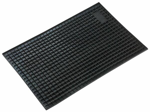 Gummimatte Rechteck ca. 43x29 cm schwarz