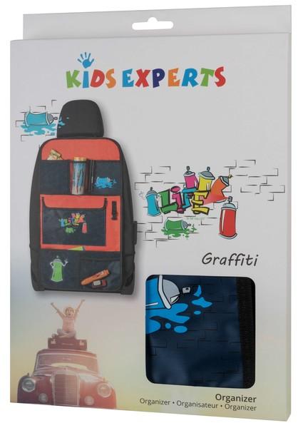 Kinder Organizer Graffiti blau