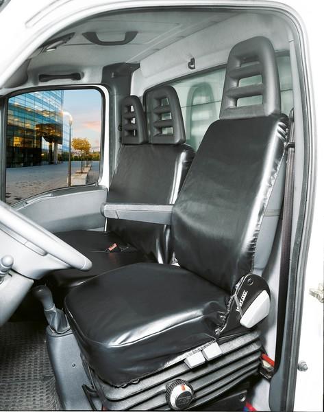 Transporter Sitzbezüge Universal Limpio Einzelsitz und Doppelbank vorne aus Kunstleder