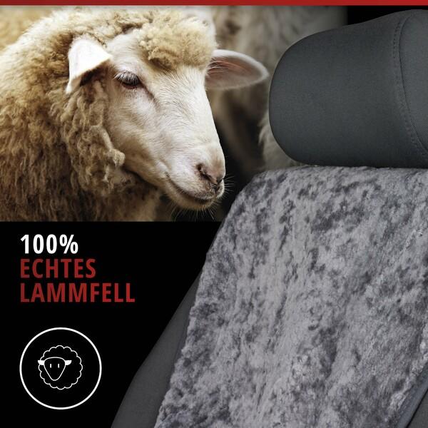 Sitzaufleger aus Lammfell Vogue anthrazit 16-18mm Fellhöhe