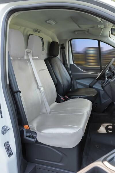 Passform Sitzbezüge für Ford Transit Einzelsitz vorne aus Kunstleder ab Baujahr 05/2014 - heute