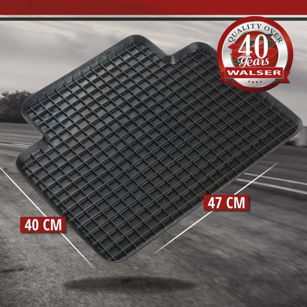 Gummimatte Randwaben 47x40 cm Hinten schwarz