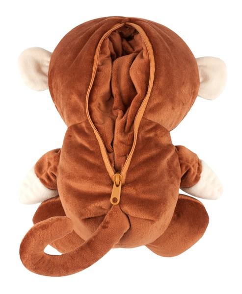 2in1 Nackenrolle Nackenhörnchen Monkey braun ab 5 Jahre