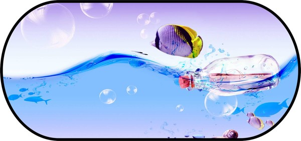 Sonnenschutz Heckscheibe selbsthaftend 100 x 50 cm - Motiv Fisch