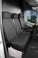 Sitzbezüge für Ford Transit Polyester Einzelsitz und Doppelbank vorne ab Baujahr 08/2000 - 04/2014