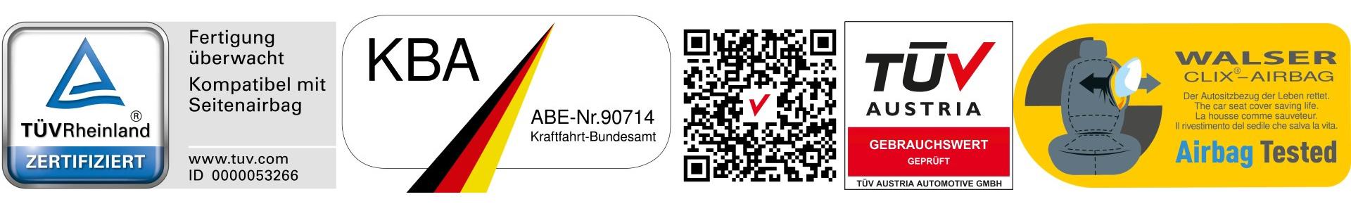 Walser GmbH Auszug Prüfzeichen Sortiment