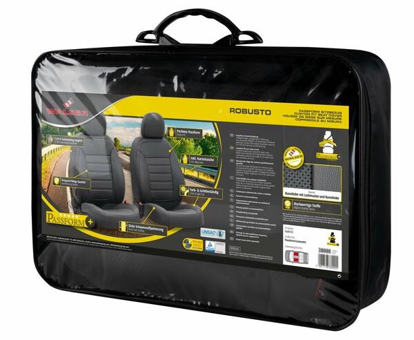Passform Sitzbezug 'Robusto' für Audi A3 Baujahr 2012 bis heute - 2 Einzelsitzbezüge für Normalsitze