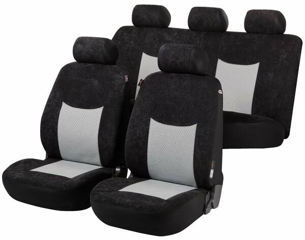 Autositzbezug Devon schwarz/grau Premium