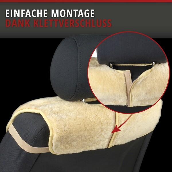 Sitzaufleger aus Lammfell Vogue beige 16-18mm Fellhöhe