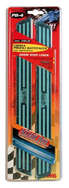 Edelstahl Tür Einstiegsleisten 33x3,2 cm