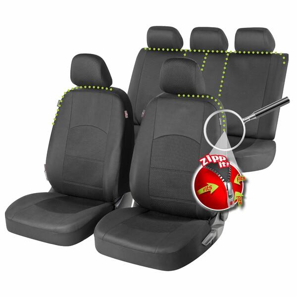 ZIPP IT Premium Derby Auto Sitzbezüge mit Reissverschluss System
