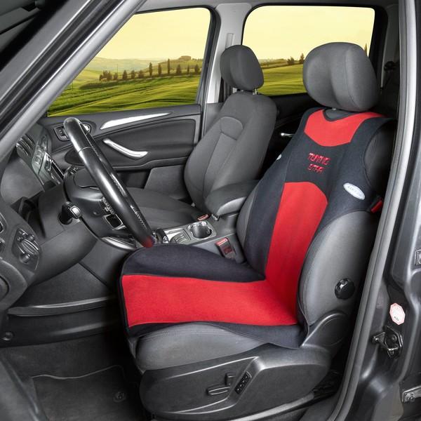 Auto Sitzbezug Universalgröße Tuning Star rot