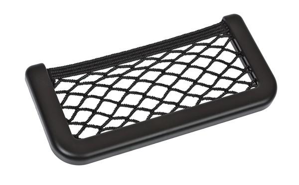 Stretch Netztasche mit Schrauben und Klebeband 17x8 cm