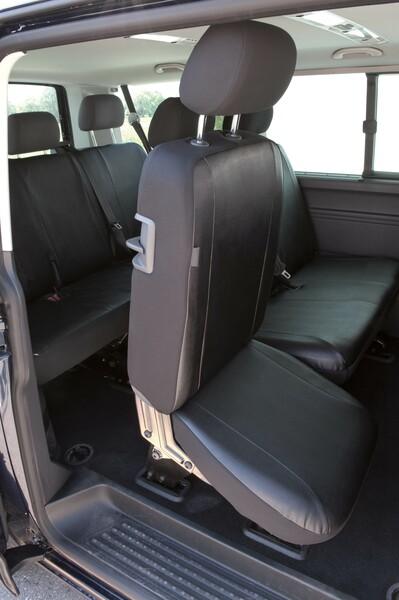 Sitzbezüge für VW T5 Einzelsitz hinten aus Kunstleder passend ab Baujahr 04/2003-06/2015