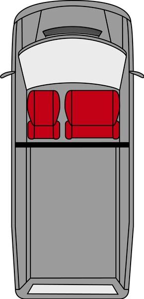 Vordersitzbezüge für Mercedes-Benz Sprinter aus Stoff Bj. ab 01/1996 - 04/2006
