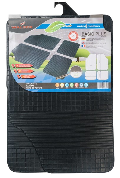 Gummimatte Basic Plus schwarz